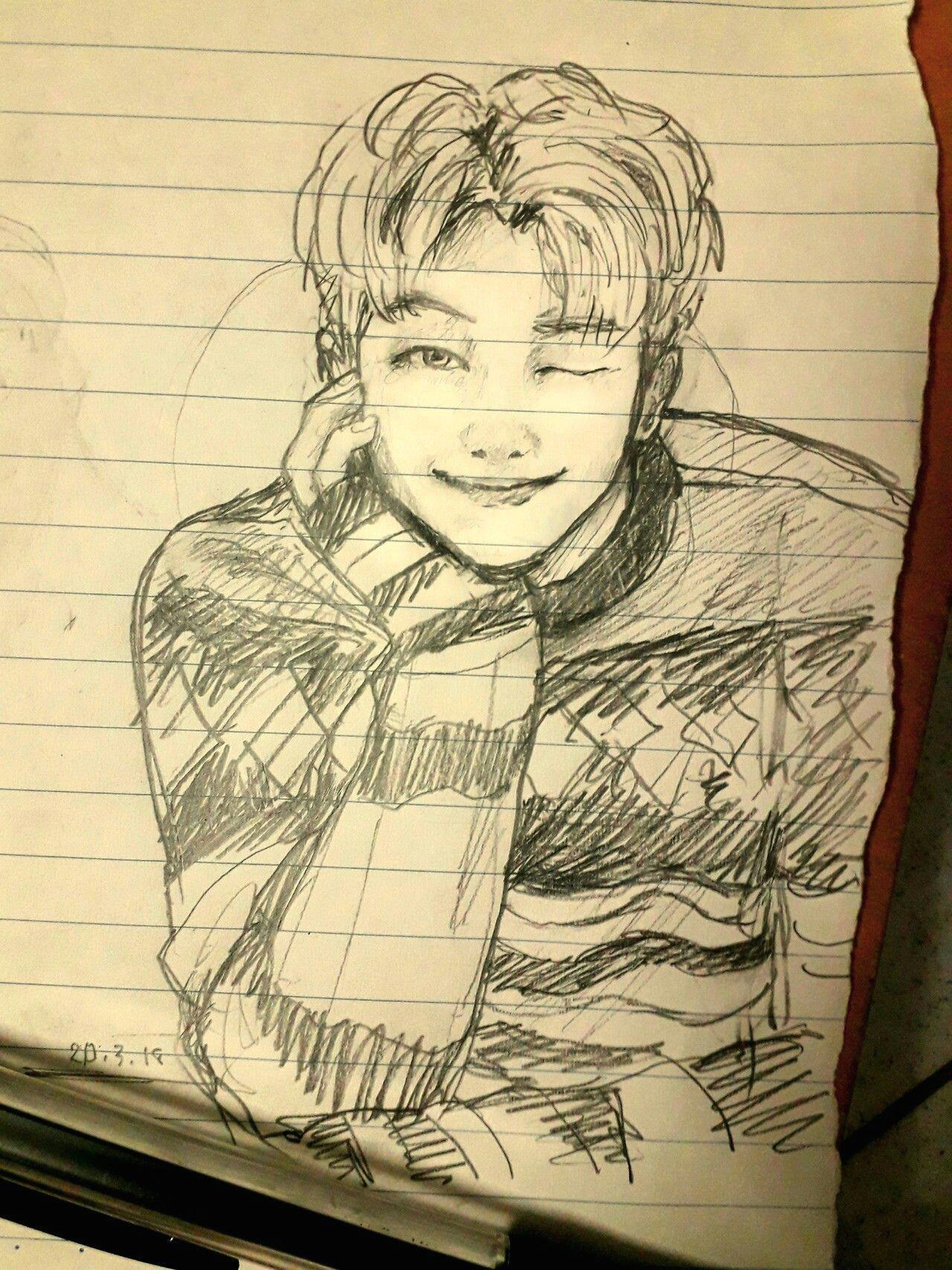 namjoon fanart a art drawings kpop drawings art sketches bts boys