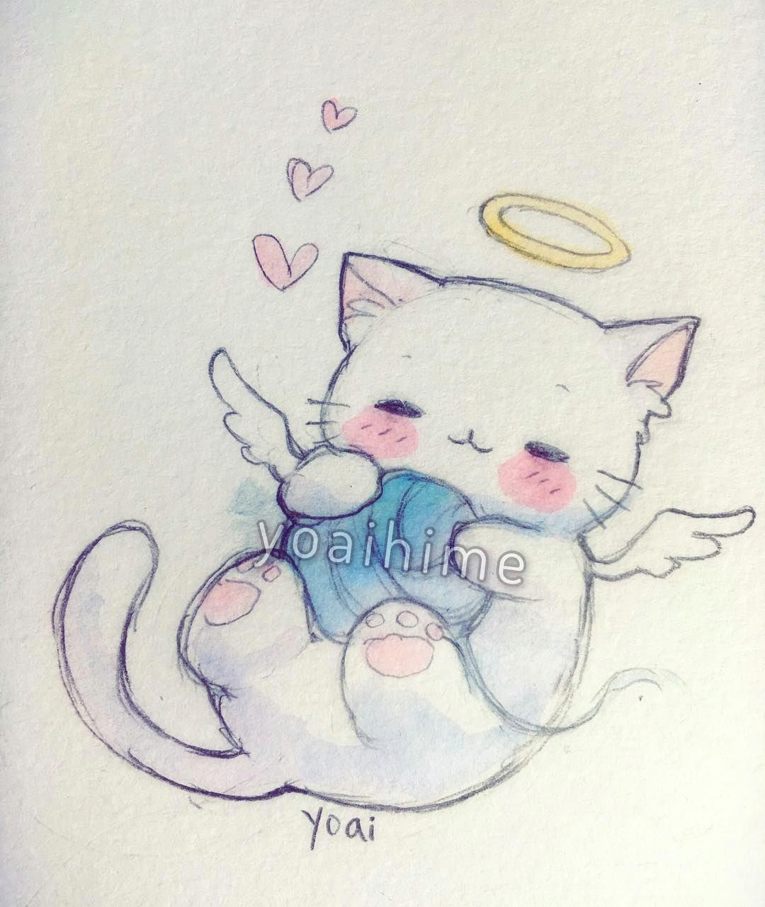 on my way to the grocery store i saw a white cat that had died this is in memory of the kitty poor little guy at least the kitty is in a