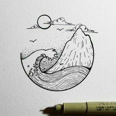 ocean and island planner doodles ocean drawing beach drawing fire drawing nature drawing