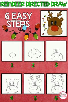 reindeer directive draw art activities for kids perfect activity for following directions directive drawing