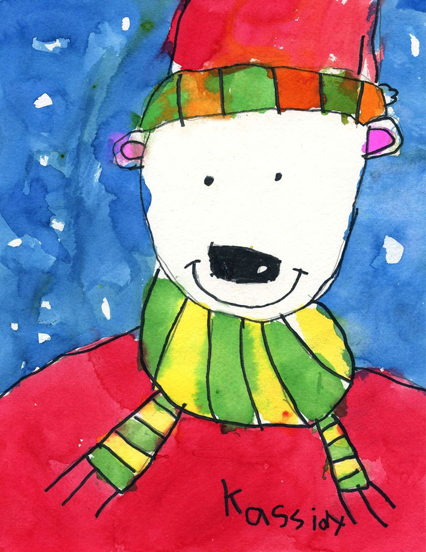 how to draw a snow bear art projects for kids 1st grade christmas art projects
