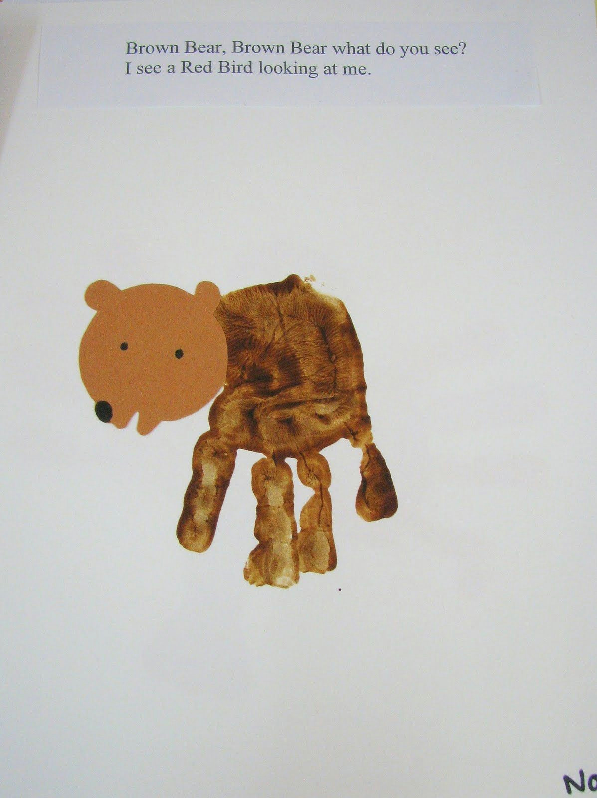 Drawing Ideas for 2 Year Olds Preschool Ideas for 2 Year Olds Brown Bear Hand Print Book Brown
