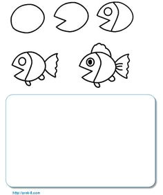 turtle drawing and writing activity sheet fish drawing for kids ocean drawing drawing step
