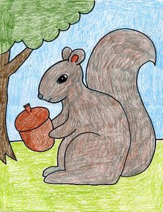 art projects for kids how to draw a squirrel fall art projects animal art