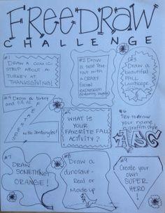 november free draw challenges tinyartroom drawing challenge art challenge drawing lessons drawing
