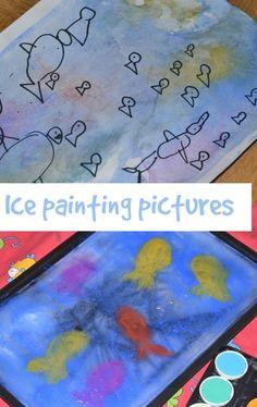 ice painting ocean themed preschool science activities painting activities preschool art science