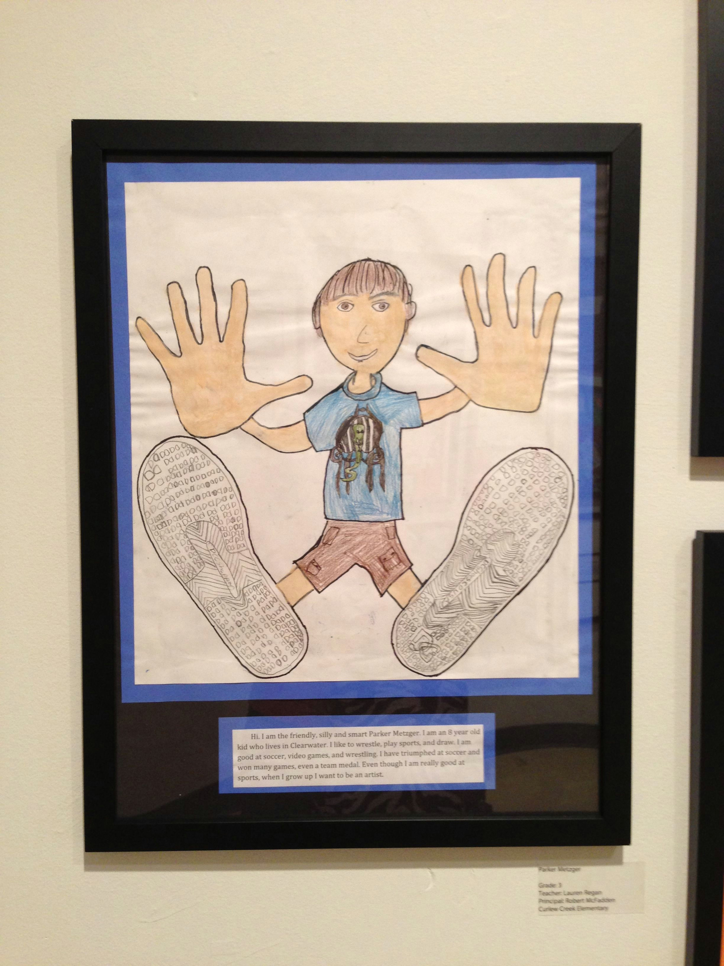all about me cool trace shoes hands then have students draw body and face