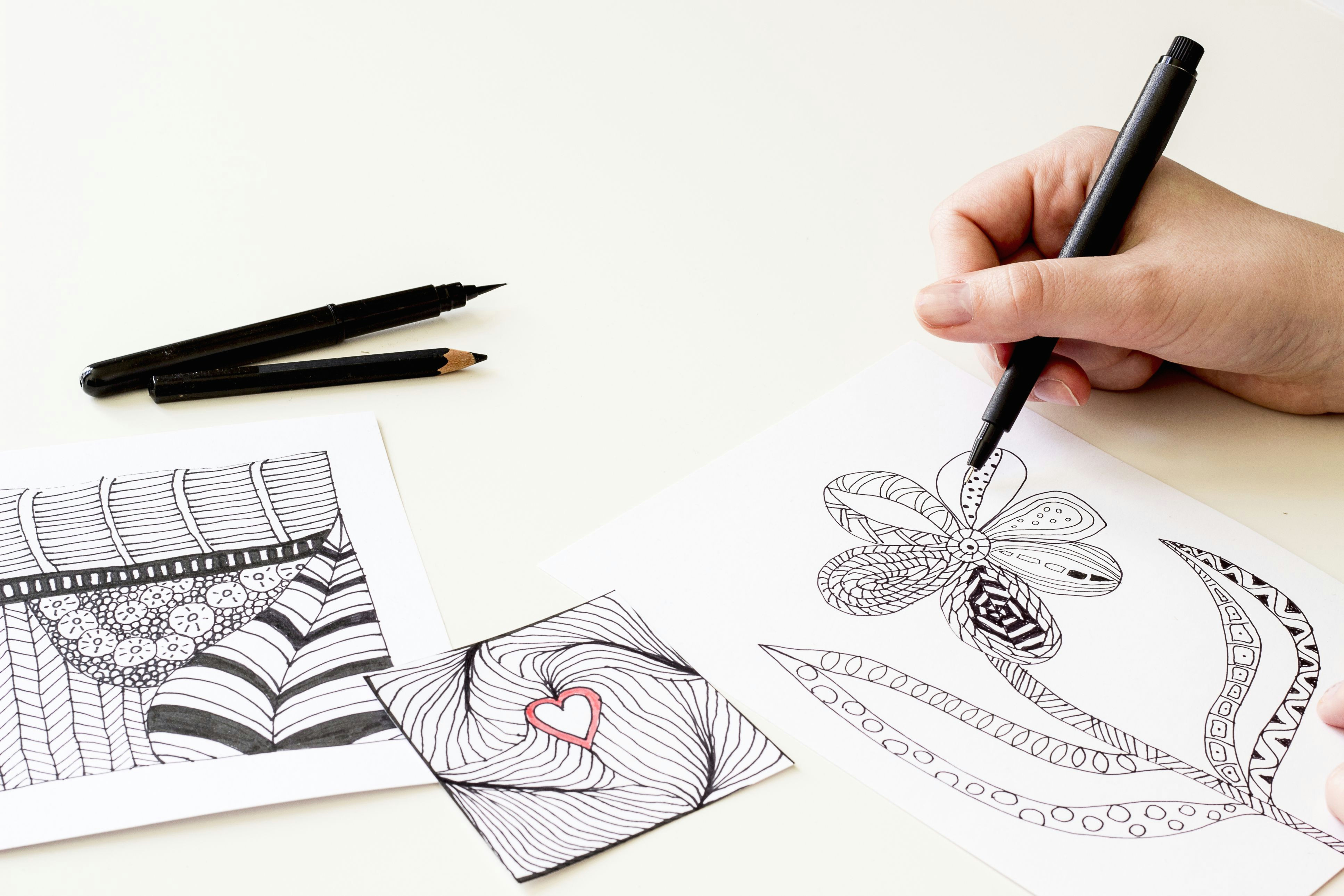 create something beautiful for stress relief