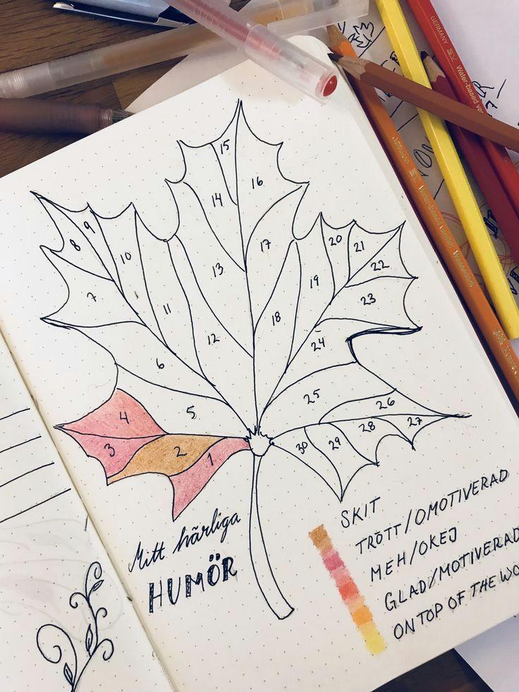 bullet journal november mood tracker swedish