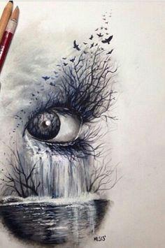 cool drawing ogen tekenen oogschets illustratie kunst potloodkunst tekentechnieken grappige tekeningen