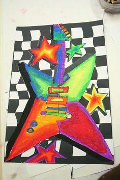 color theroy or elements art rocks guitars debbie dixon paver a grade 7 art ed ideas