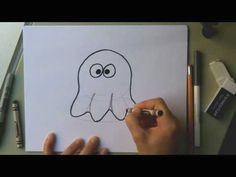 how to draw a cute ghost for halloween easy cartoon ghost drawing tutorial