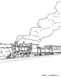 rail engine in the landscape coloring page can color online train coloring pages online