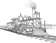 railroad amazing steam train on railroad coloring page industrial revolution