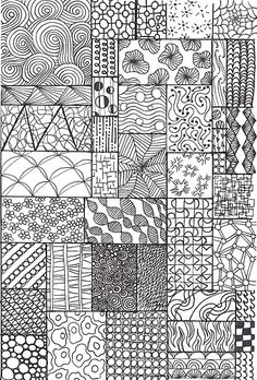 zentangle sampler i made this one specifically for my juni flickr