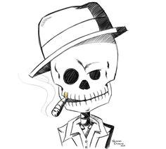 skull gangster drawing gangster drawings skull sketch alchemist drawing ideas