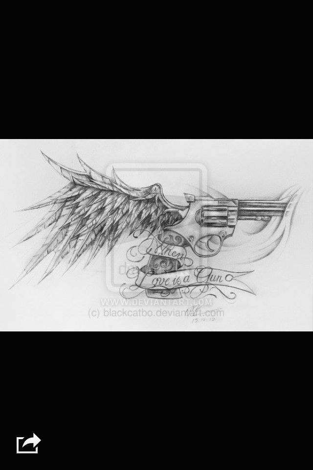 pistol tattoo picture tattoos piercings ink drawings memorial tattoos tattoo artists