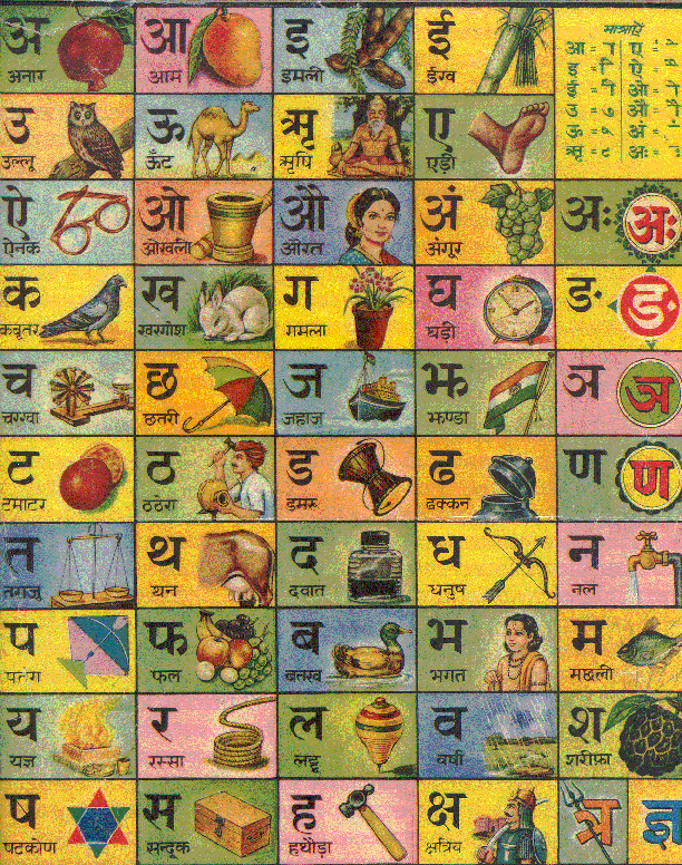 hindi alphabet chart my sassur taught me how to read and write by drawing pictures to associate with each of the letters
