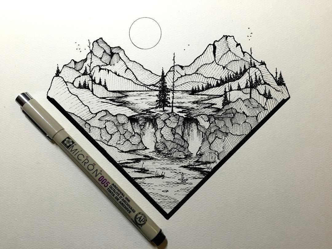 tumblr support pen art marker art trendy tattoos pointillism landscaping