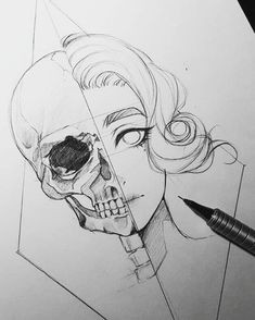 this is an interesting drawing but the skull is very wrong i d like