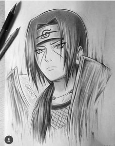 uchiha itachi fanartdidn t use reference so it took some time kaito a anime drawings