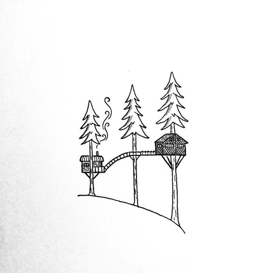 draw a treehouse
