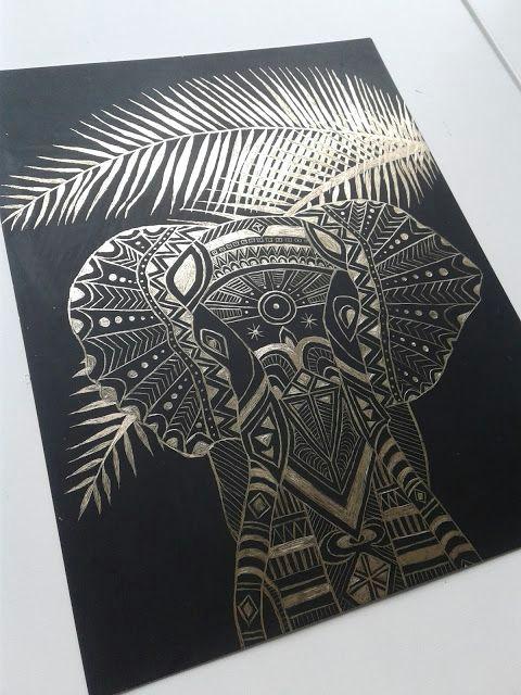 a faithful attempt gold scratch art drawings