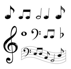 how to draw music notes letra musical music doodle music logo music drawings