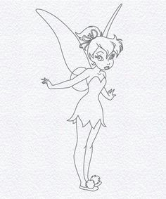 how to draw fairies step by step drawing of tinker bell disney sketches