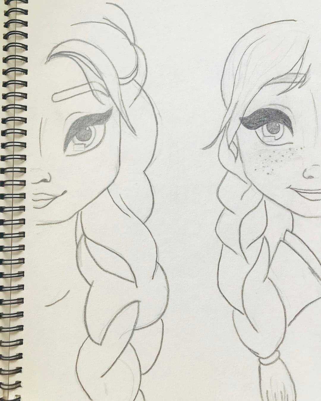 art drawing zeichnung bleistiftzeichnung elsa anna dieeiskonigin