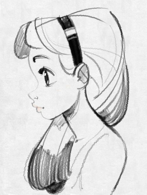 creating brushes that look like graphite pencils a character design references