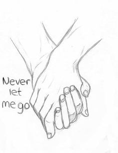 hello stalker never let me go forever holding hands couple love drawing sketch art