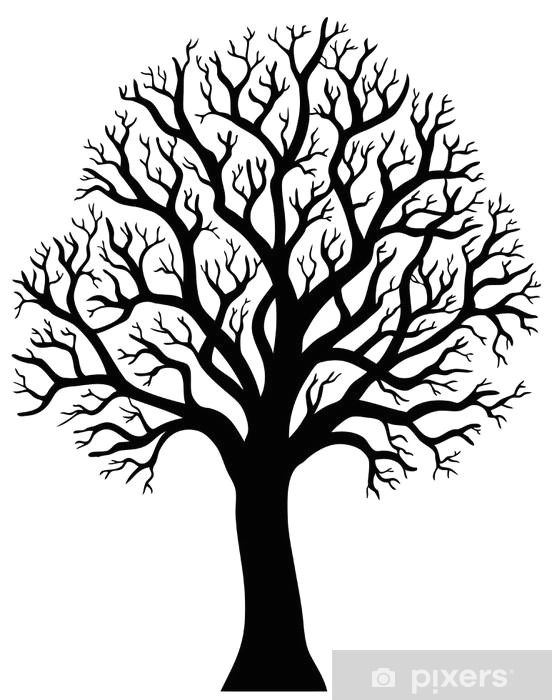 silhouette of tree without leaf 2 pixerstick sticker wall decals