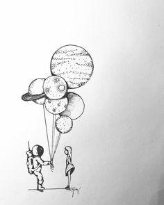 francesca ganassi on instagram houston m arrangio d draw paint planets sketch art universe galaxy