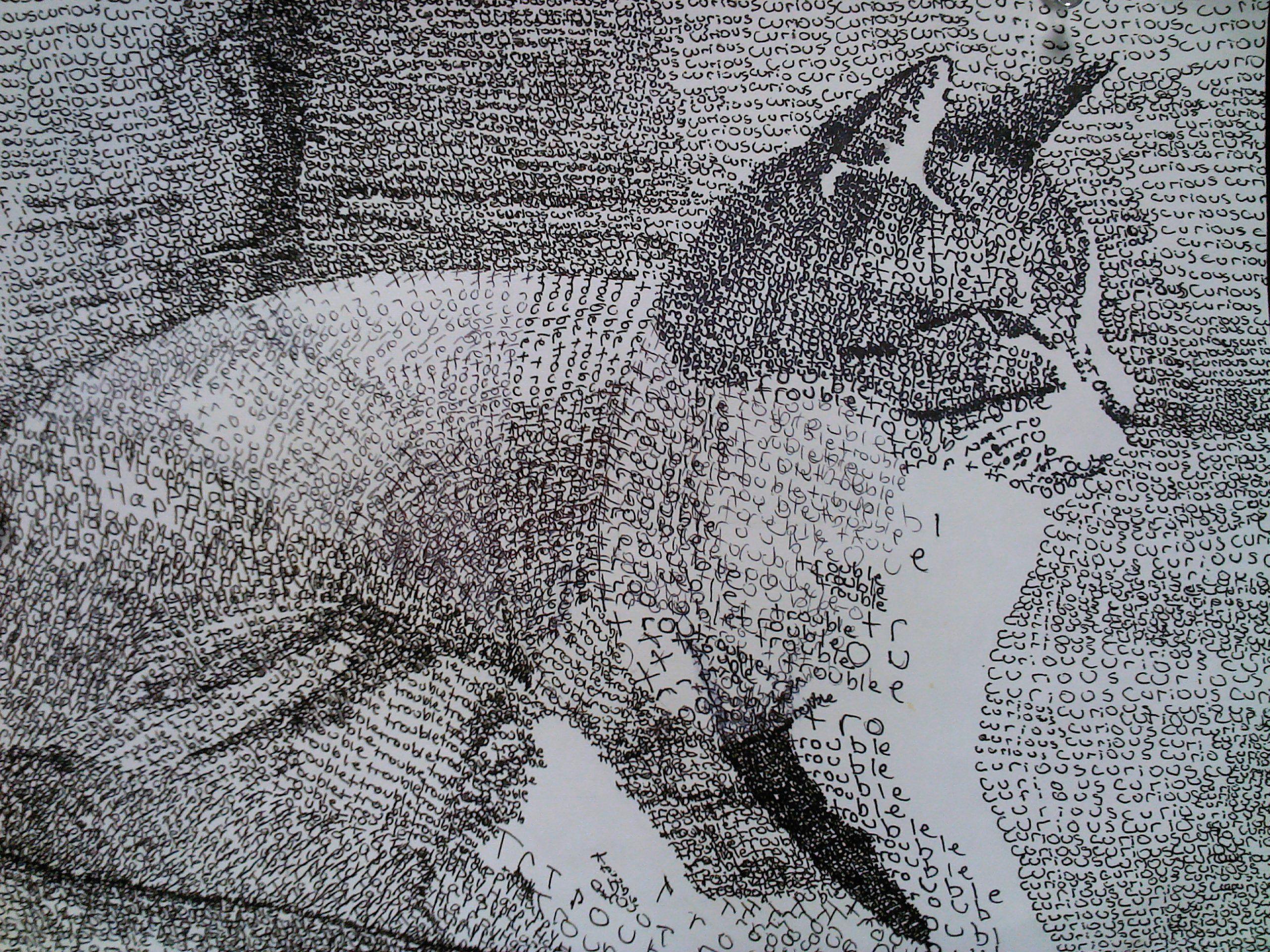 micrography high school drawing class 8 year 8 ap art arts ed