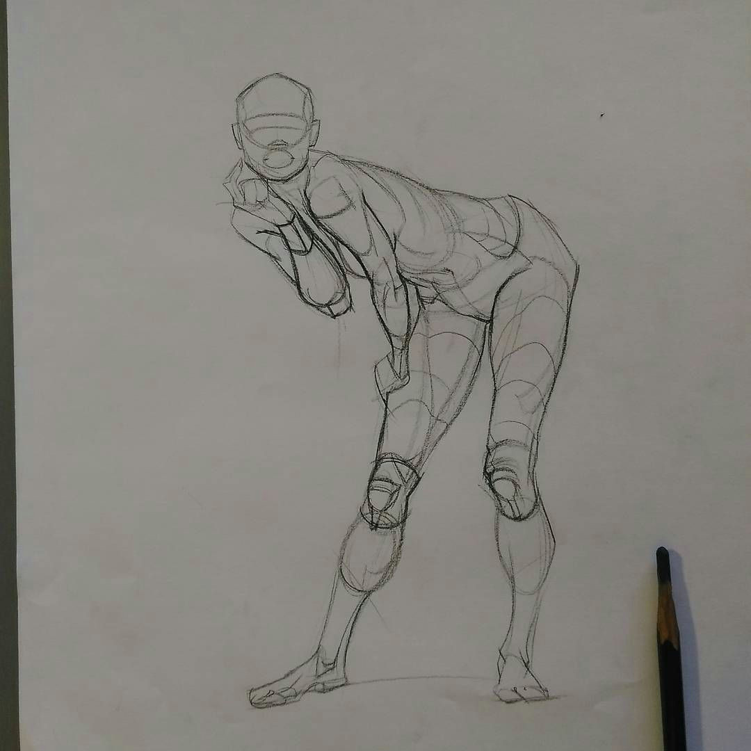 today s figure drawing warm up quicksketch session from photo reference 3 10 mins