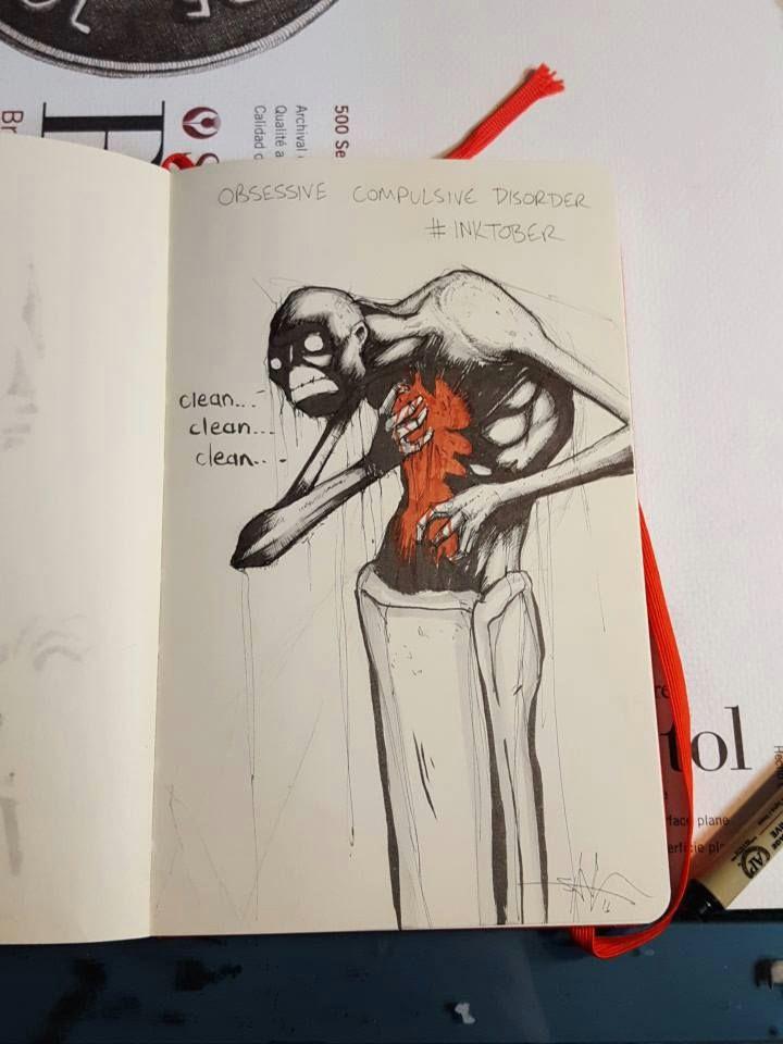 obsessive compulsive disorder shawn coss creepy drawings dark drawings creepy art scary