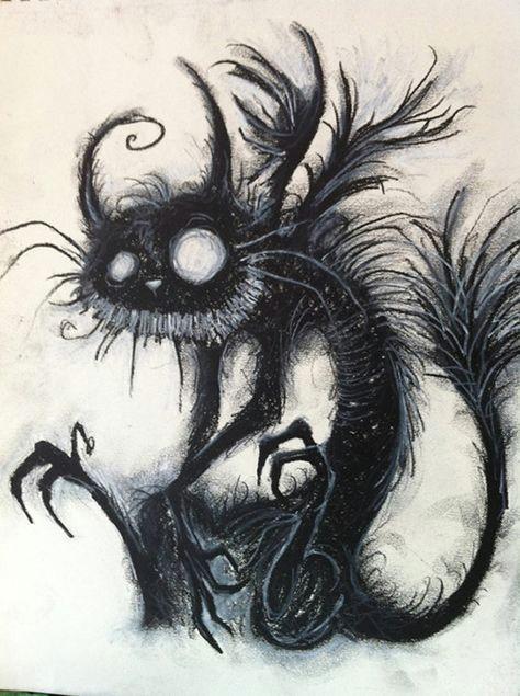 spooky kitty estilo tim burton creative drawing ideas creative artwork cheshire cat tim