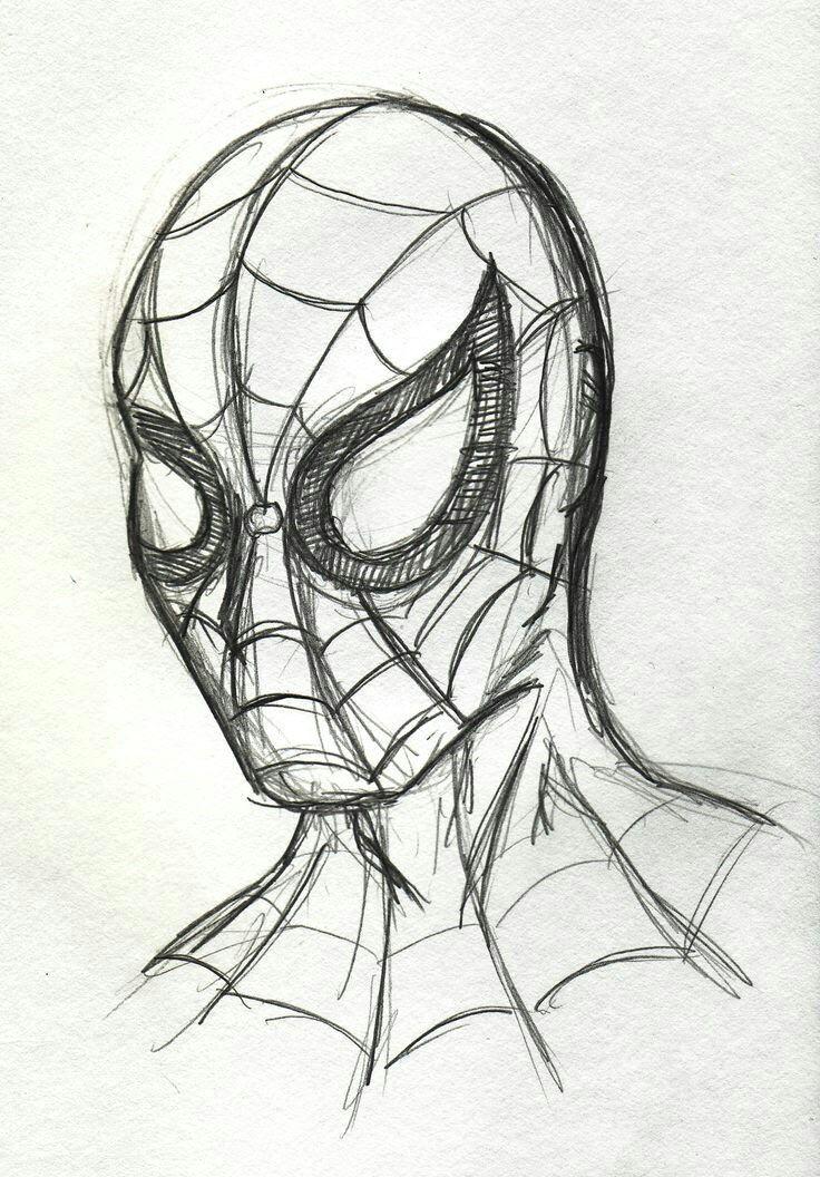 spider man sketch cool simple drawings pencil sketches simple simple disney drawings art