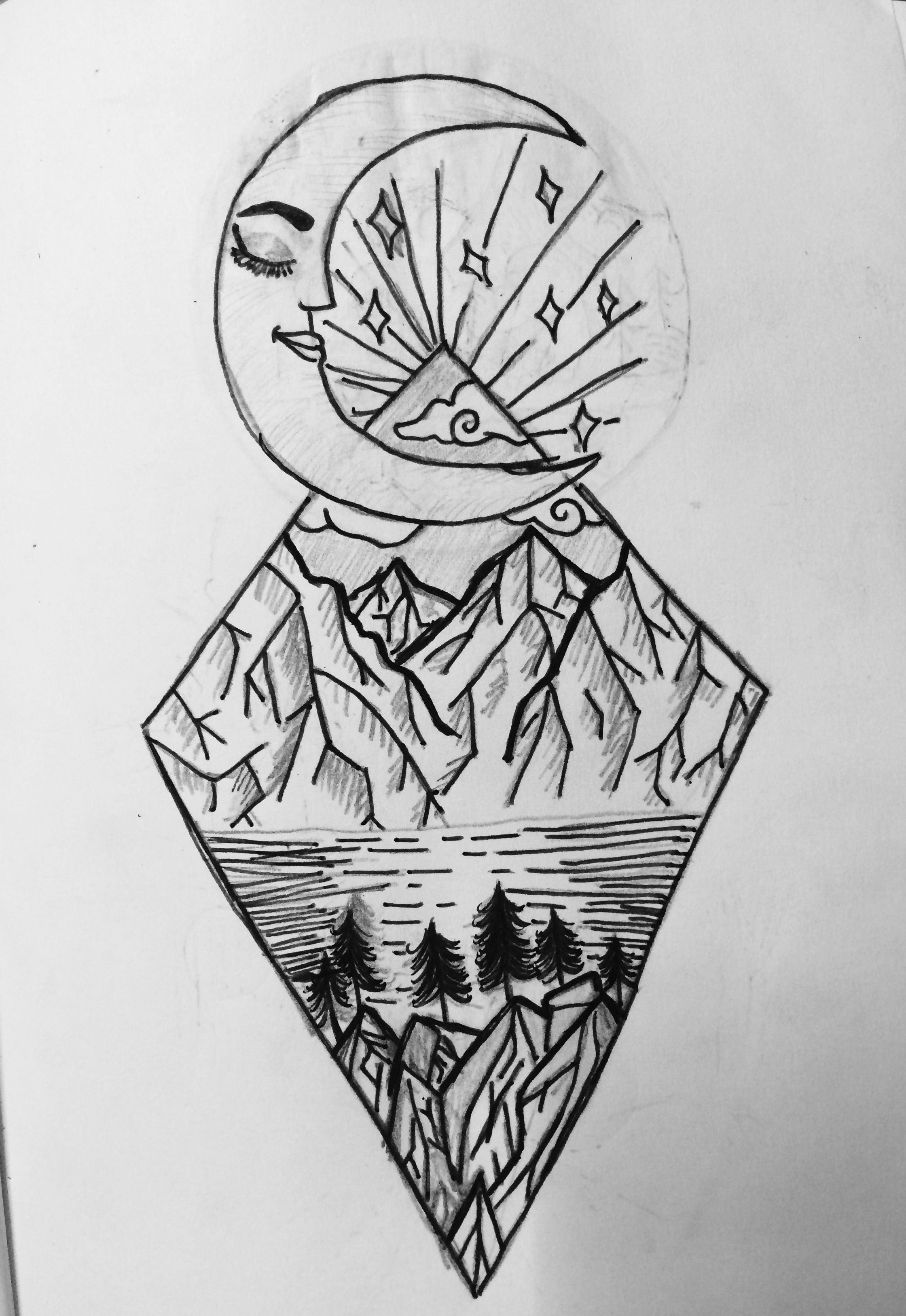 Drawing Ideas Trippy Drawing Ideas Moon Doodle Easy Drawing Cool Black Drawing