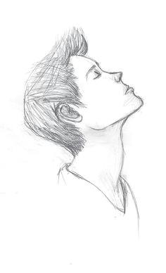 easy pencil drawing of a sad boy tumblr