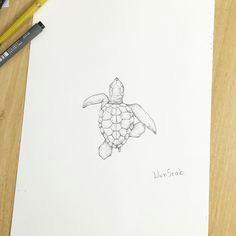 i i i i i i i on instagram a turtle a e e i a a d a illust tattoo design wonseok tattooist turtle tattoos drawing pen illusttattoo