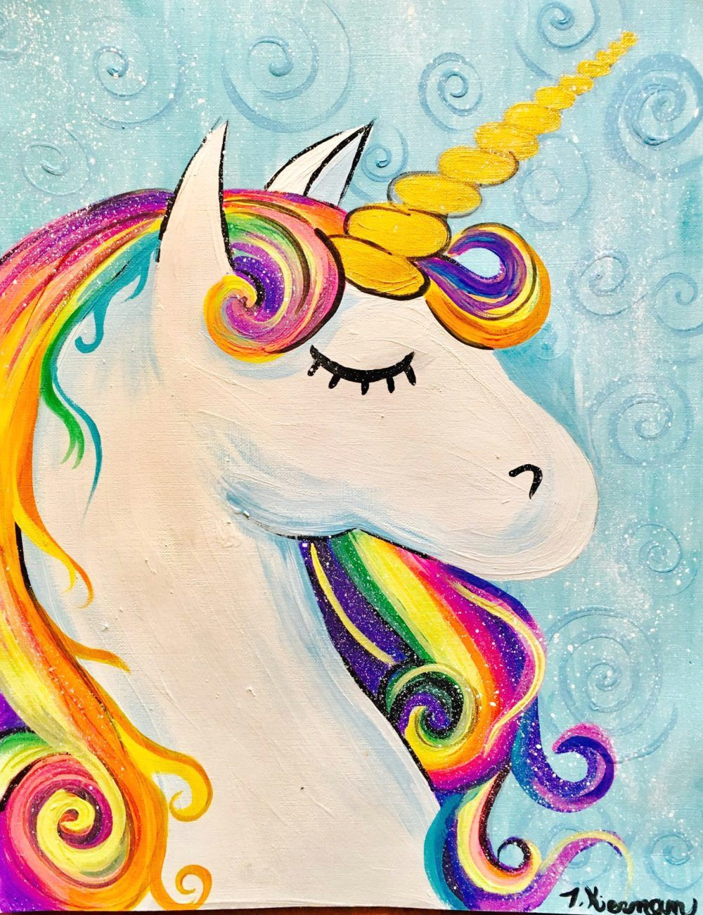 learn how to draw and paint a unicorn head step by step with this tracie s acrylic painting tutorial easy simple and fun directions with pictures and a