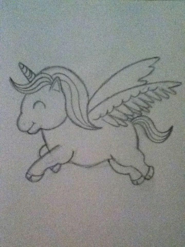 how to draw a cartoon unicorn