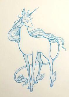 the last unicorn sketch virginia gunter