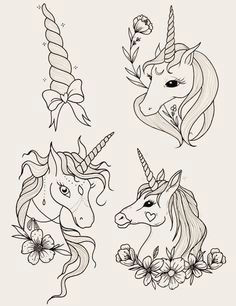 disea os de unicornio para colorear