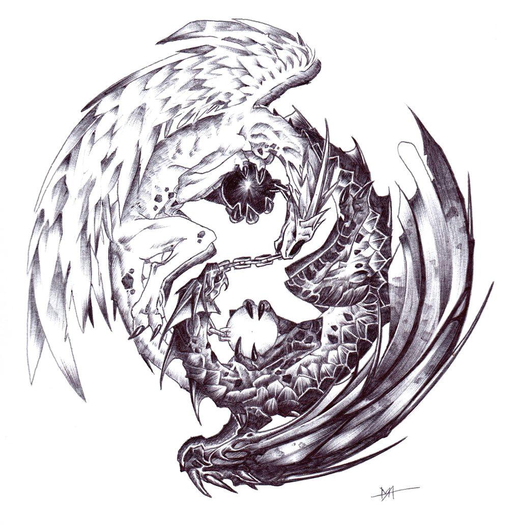 yin yang dragon by moog lee deviantart com on deviantart