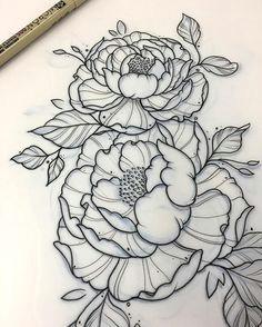 orna la on instagram peony d tattoo project peony tattoo flowers tattooproject girl girltattoo flowerstattoo sketch flowersketch drawing