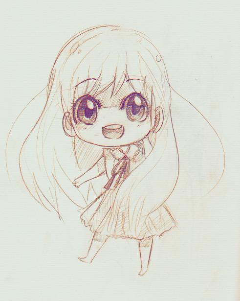 Drawing Kawaii Eyes A Anime Art A Chibi Big Eyes Smile Drawing Pencil