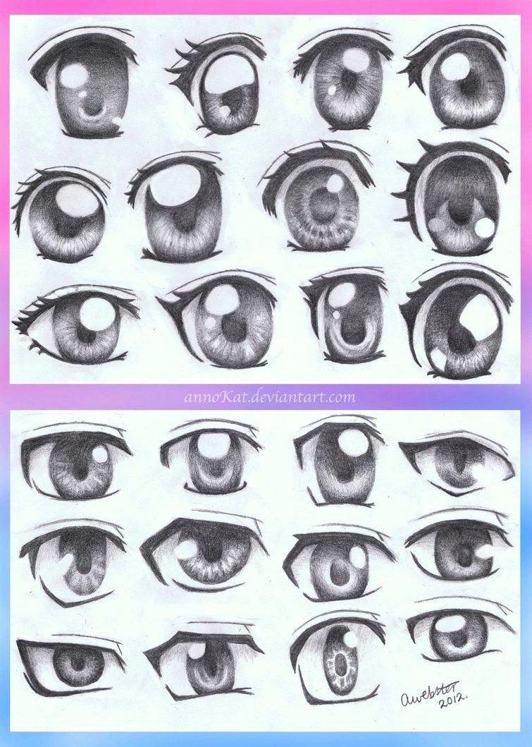 anime eye styles by annokat on deviantart more
